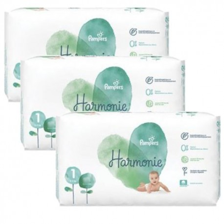 Mega pack 136 Couches Pampers Harmonie taille 1 sur Couches Zone