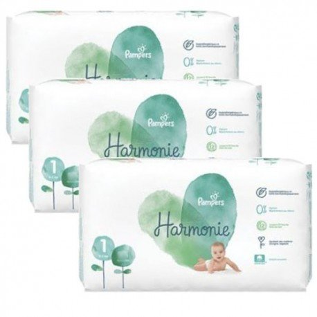Maxi mega pack 408 Couches Pampers Harmonie taille 1 sur Couches Zone