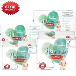 Pack jumeaux 580 Couches Pampers Harmonie Pants taille 4 sur Couches Zone
