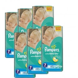 Giga pack 264 Couches Pampers Active Baby Dry taille 7 sur Couches Zone
