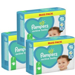 Maxi giga pack 308 Couches Pampers Active Baby Dry taille 7 sur Couches Zone