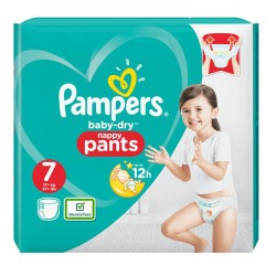 Pack 40 Couches Pampers Baby Dry Pants taille 7 sur Couches Zone
