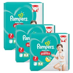 Mega pack 160 Couches Pampers Baby Dry Pants taille 7 sur Couches Zone