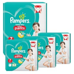 Giga pack 240 Couches Pampers Baby Dry Pants taille 7 sur Couches Zone