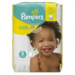 Pack 20 Couches Pampers Premium Protection taille 5 sur Couches Zone