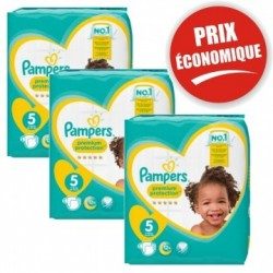 Pack 40 Couches Pampers Premium Protection taille 5 sur Couches Zone