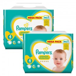 Pack 96 Couches Pampers Premium Protection taille 4 sur Couches Zone