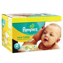 Pack 93 Couches Pampers Premium Protection taille 2 sur Couches Zone