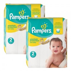 Mega pack 124 Couches Pampers Premium Protection taille 2 sur Couches Zone