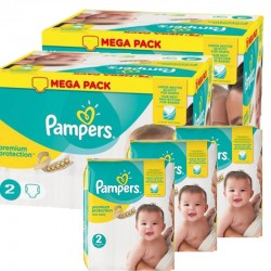 Maxi mega pack 496 Couches Pampers Premium Protection taille 2 sur Couches Zone