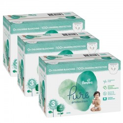 Pack 44 Couches Pampers Pure Protection taille 3 sur Couches Zone