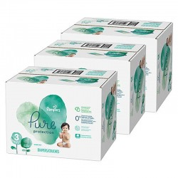 Maxi mega pack 418 Couches Pampers Pure Protection taille 3 sur Couches Zone