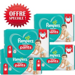 Pack 90 Couches Pampers Baby Dry Pants taille 4 sur Couches Zone