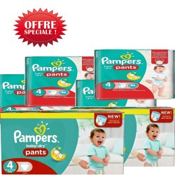Mega pack 150 Couches Pampers Baby Dry Pants taille 4 sur Couches Zone