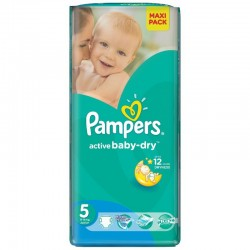 Pack 22 Couches Pampers Active Baby Dry taille 5 sur Couches Zone