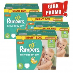 Pack 44 Couches Pampers Active Baby Dry taille 5 sur Couches Zone