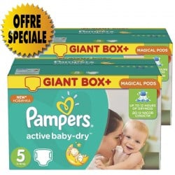 Pack 66 Couches Pampers Active Baby Dry taille 5 sur Couches Zone