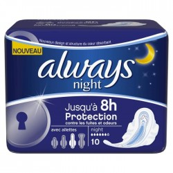 Ultra - Pack 10 Serviettes hygiéniques d'Always taille Night