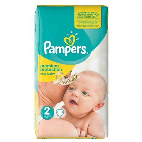 Pack 31 Couches Pampers New Baby Premium Protection taille 2 sur Couches Zone