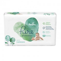 Pack 35 Couches Pampers Pure Protection taille 1 sur Couches Zone