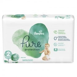 Pack 27 Couches Pampers Pure Protection taille 2 sur Couches Zone