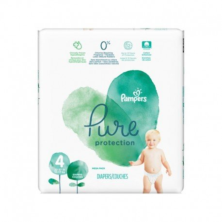 Pack 19 Couches Pampers Pure Protection taille 4 sur Couches Zone