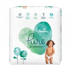 Pack 17 Couches Pampers Pure Protection taille 5 sur Couches Zone