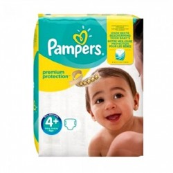 Pack 50 Couches Pampers New Baby Premium Protection taille 4+ sur Couches Zone