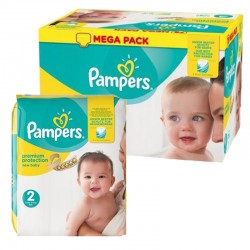 124 Couches Pampers New Baby Premium Protection taille 2 sur Couches Zone