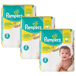341 Couches Pampers New Baby Premium Protection taille 2 sur Couches Zone