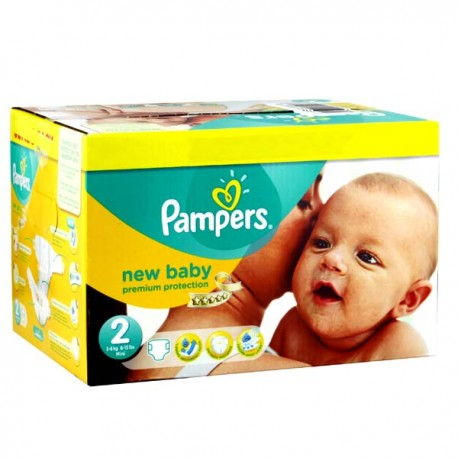 Maxi mega pack 403 Couches Pampers New Baby Premium Protection taille 2 sur Couches Zone