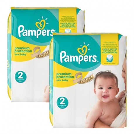 Maxi mega pack 434 Couches Pampers New Baby Premium Protection taille 2 sur Couches Zone