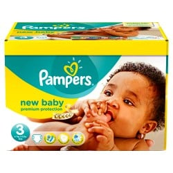 140 Couches Pampers New Baby Premium Protection taille 3 sur Couches Zone