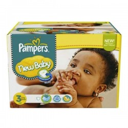 Maxi giga pack 315 Couches Pampers New Baby Premium Protection taille 3 sur Couches Zone