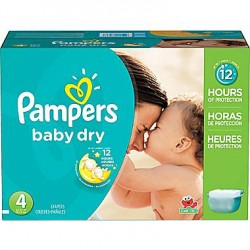 Giga pack 204 Couches Pampers Baby Dry taille 4 sur Couches Zone