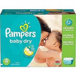 Giga pack 238 Couches Pampers Baby Dry taille 4 sur Couches Zone