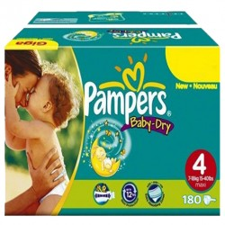 Maxi mega pack 476 Couches Pampers Baby Dry taille 4 sur Couches Zone