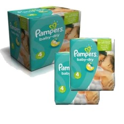 Pack jumeaux 510 Couches Pampers Baby Dry taille 4 sur Couches Zone