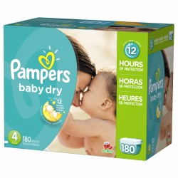 Pack jumeaux 578 Couches Pampers Baby Dry taille 4 sur Couches Zone