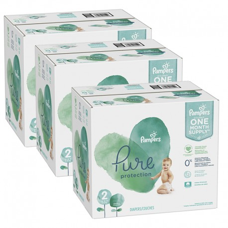 Pack jumeaux 540 Couches Pampers Pure Protection taille 2 sur Couches Zone