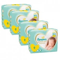 Mega pack 120 Couches Pampers New Baby Premium Care taille 0 sur Couches Zone