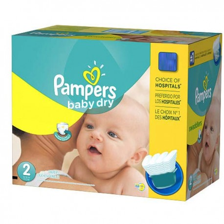 138 Couches Pampers Baby Dry taille 2 sur Couches Zone