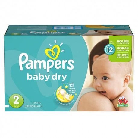 276 Couches Pampers Baby Dry taille 2 sur Couches Zone