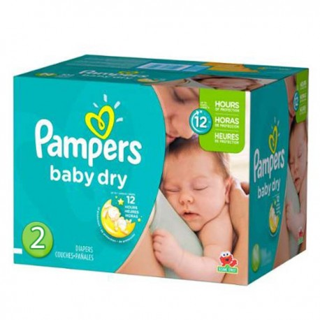 Maxi mega pack 414 Couches Pampers Baby Dry taille 2 sur Couches Zone