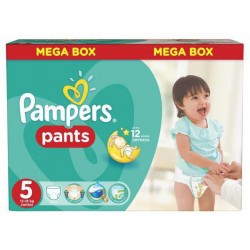 Pack 66 Couches Pampers Baby Dry Pants taille 5