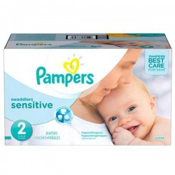 Giga pack 240 Couches Pampers New Baby Sensitive taille 2 sur Couches Zone