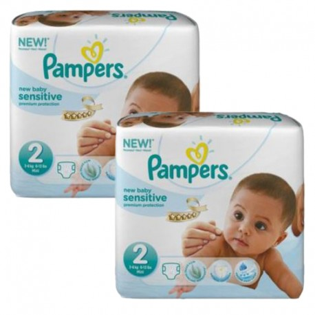 300 300 Couches Pampers New Baby Sensitive taille 2 sur Couches Zone