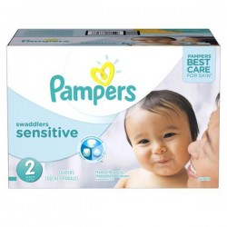 Maxi mega pack 480 Couches Pampers New Baby Sensitive taille 2 sur Couches Zone