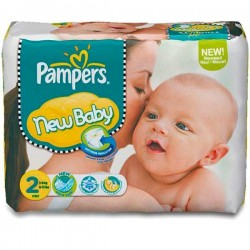Pack 31 Couches Pampers New Baby Premium Protection taille 2