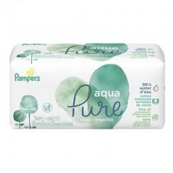 Pack 48 Lingettes Bébés Pampers Aqua Pure sur Couches Zone